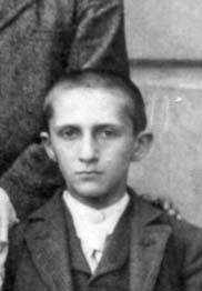 The 13-year-old Paul Netheim as a fourth-class pupil at the KWG high school