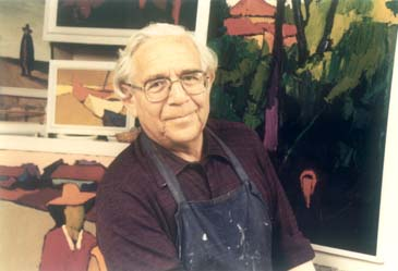 Jacob Pins in his atelier around 1988