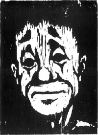 The Old Clown. 1968. 440 x 320 mm