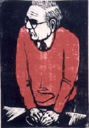 Self-Portrait with Red Sweater. 1996. 2 Druckstöcke. 568 x 388 mm
