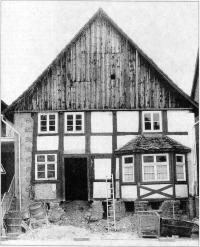 Das Haus Uhlmann vor dem Umzug ins Freilichtmuseum in Detmold