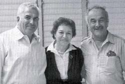 Ruth Zadek née Netheim with Zvi (Erich) Weinberg and Rudy Wolff who also emigrated from Norden, on a visit to Norden in 1985
